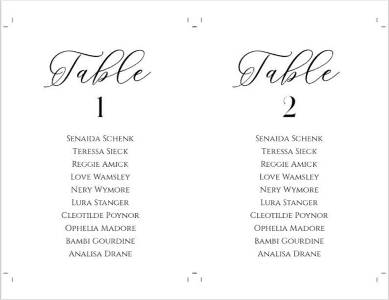 Black Table Numbers Wedding Seating Cards White Chart Table Cards Wedding Printable Wedding Seating Chart Template DIY Seating Plan