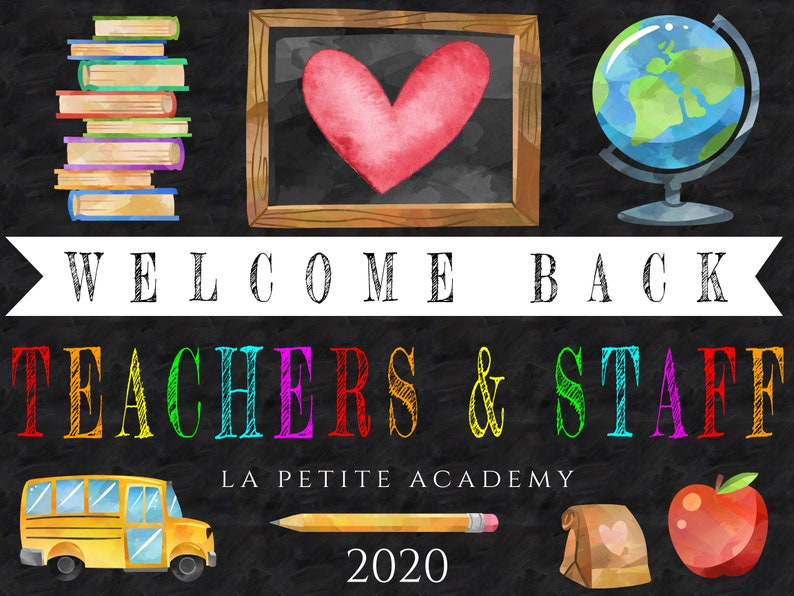 Welcome Back Teachers and Staff Yard Sign Template Teacher ...