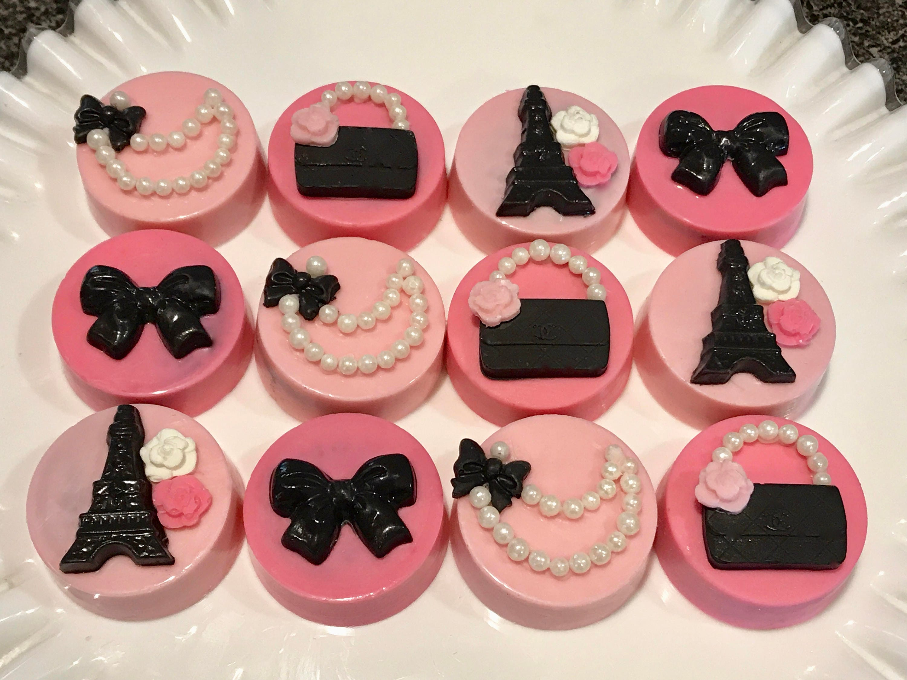 Night in Paris Chanel Chocolate Covered Oreos