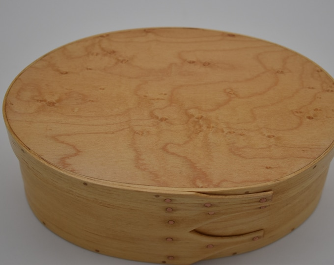 "Bird's Eye Maple Shaker Box #3;  size 4 3/4"" x 7"" :Item #275"