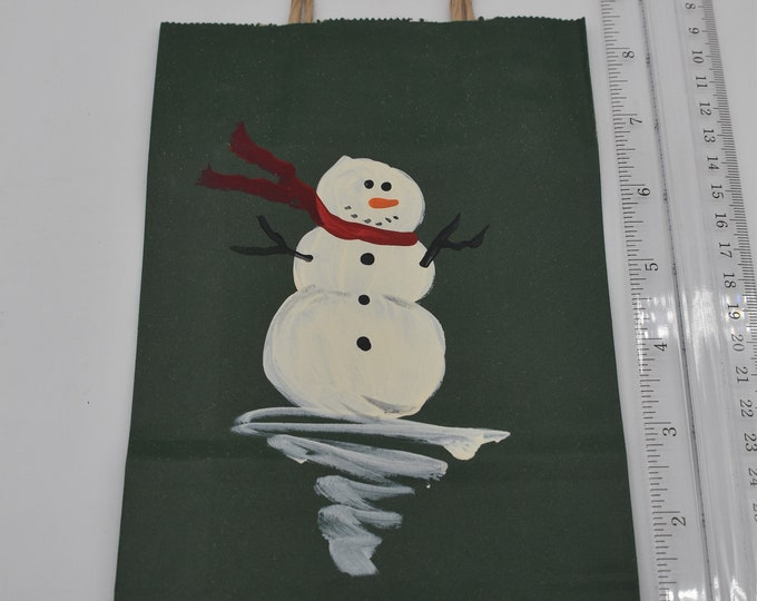 """Painted Gift Bags Small 5"""" L x 2 3/4"""" W x 8 1/2"""" H Item #1188"""