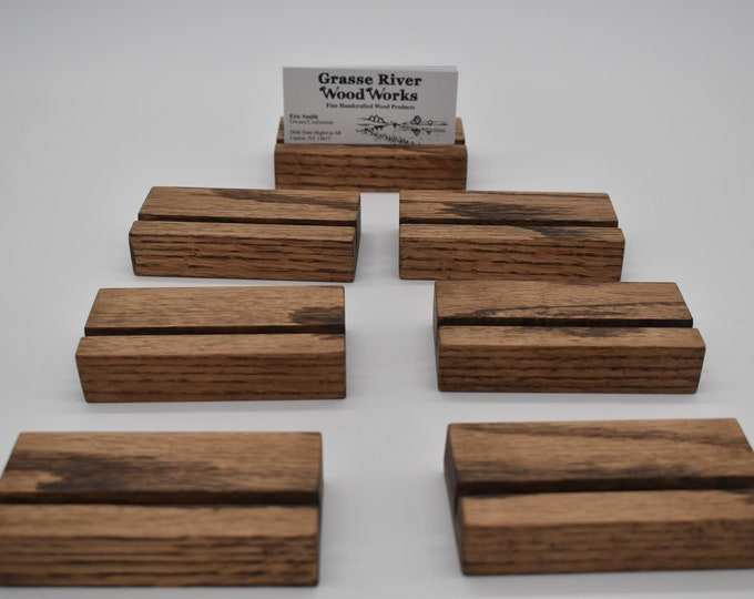 Business Card Holder - Oak