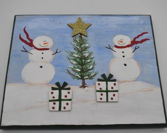 Hand-painted holiday plaques Item # 1198