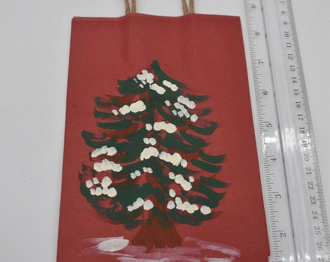 """Painted Gift Bags Small 5"""" L x 2 3/4"""" W x 8 1/2"""" H Item #1187"""