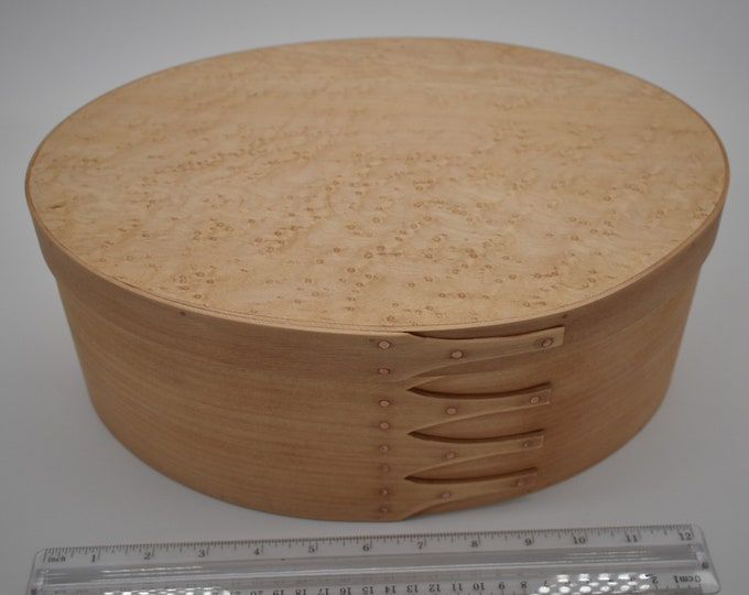"Bird's Eye Maple Shaker Box #7; size 8 3/4"" x 12 1/2"" :Item #193"