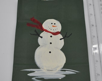 "Painted Gift Bags Small 5"" L x 2 3/4"" W x 8 1/2"" H Item #1193"