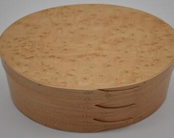 """Bird's Eye Maple Shaker Box #5; size 6 1/2"""" 9 1/2"""" Item #197"""