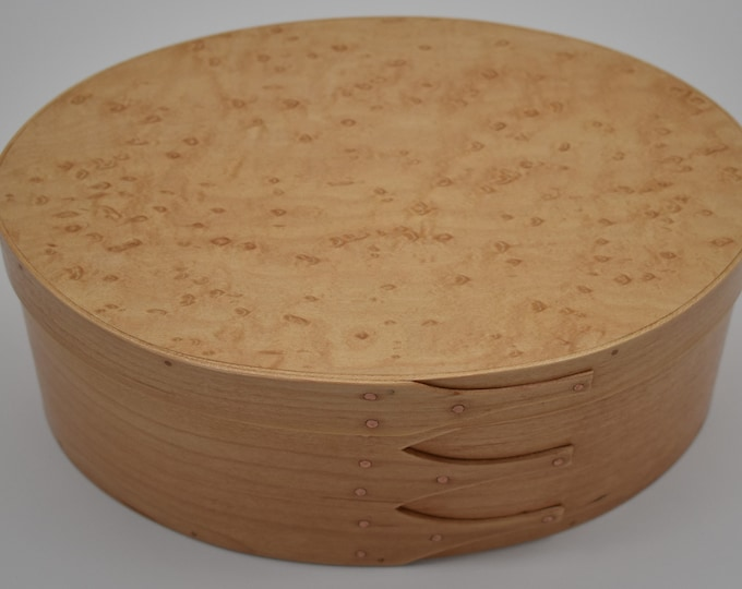 "Bird's Eye Maple Shaker Box #5; size 6 1/2"" 9 1/2"" Item #197"