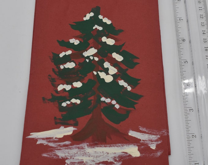 """Painted Gift Bags Small 5"""" L x 2 3/4"""" W x 8 1/2"""" H Item #1184"""