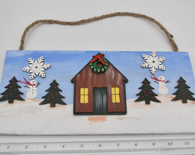 Hand-painted holiday plaques Item # 1202