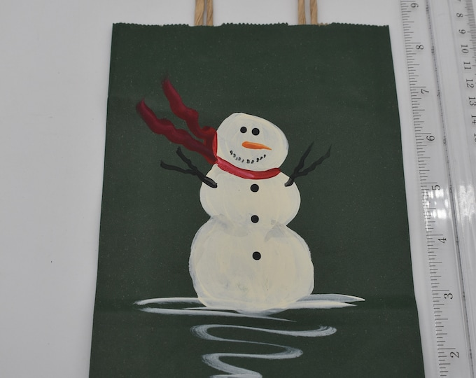 """Painted Gift Bags Small 5"""" L x 2 3/4"""" W x 8 1/2"""" H Item #1192"""