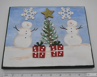 Hand-painted holiday plaques Item # 1196