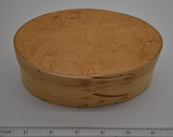 "Bird's Eye Maple Shaker Box #2; size 3 1/2"" x 5 3/4"" Item #212"