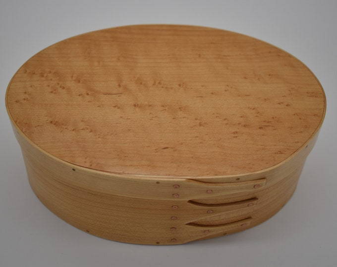 "Bird's Eye Maple Shaker Box #4; size 5 1/2"" x 8 1/4"" :Item #202"