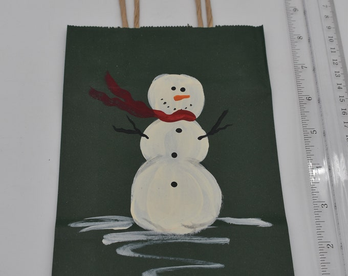 """Painted Gift Bags Small 5"""" L x 2 3/4"""" W x 8 1/2"""" H Item #1183"""