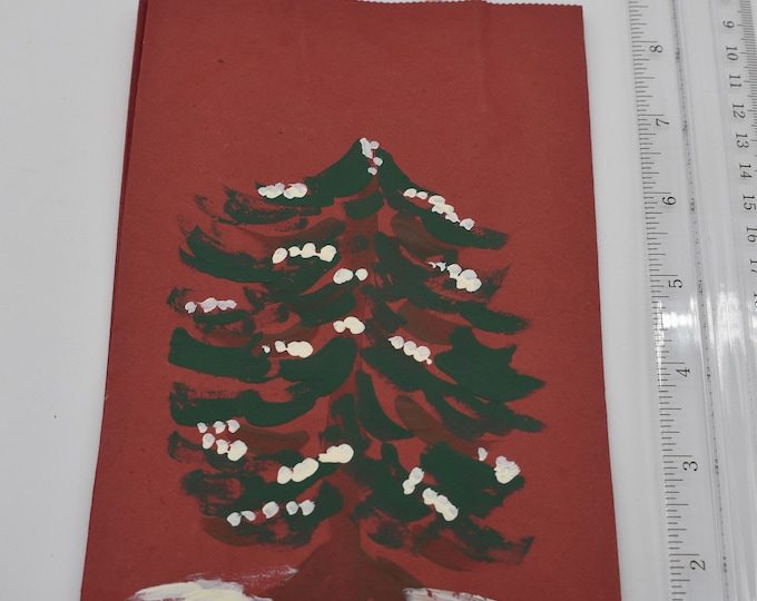 """Painted Gift Bags Small 5"""" L x 2 3/4"""" W x 8 1/2"""" H Item #1189"""