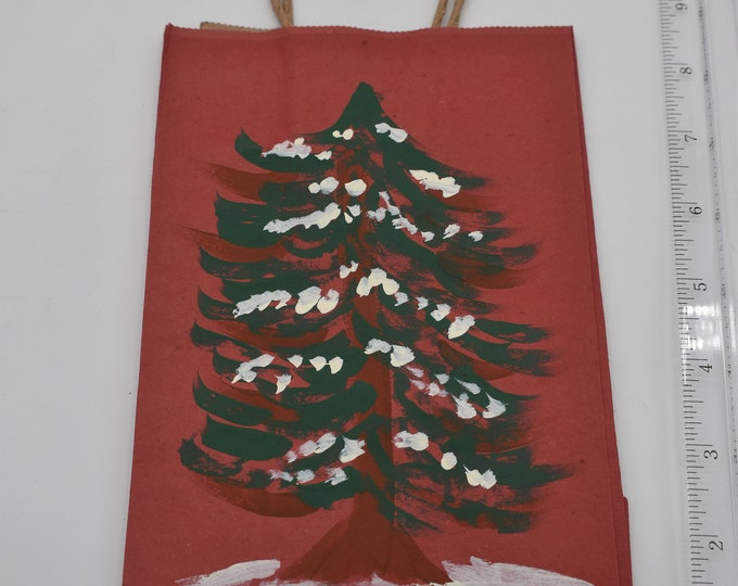 """Painted Gift Bags Small 5"""" L x 2 3/4"""" W x 8 1/2"""" H Item #1190"""