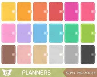 Planner Clipart Planners Clip Art Rainbow Journal Notebook Books Notes Cute Cliparts PNG Graphic Download Commercial Use