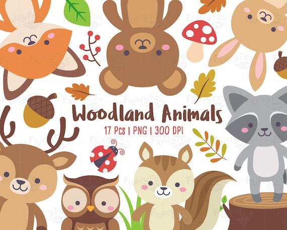 Woodland Animals Clipart Forest Animal Clip Art Wild Cute