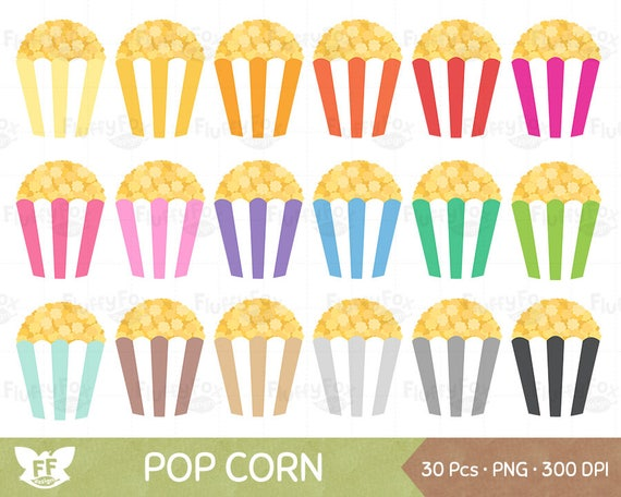 Popcorn Clipart Pop Corn Cliparts Cinema Movie Theater Snack