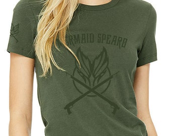 Mermaid Spearo Women's The Favorite Military Olive Tee 100% Airlime Cotton