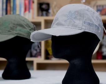 Gray Dad Cap Distressed Hat Grey Mermaid Spearo Embroidery Curved Visor Adams Cotton Back Strap Streetwear Low Profile Baseball