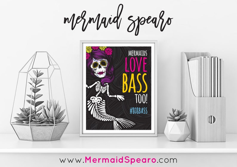 808 Bass Wall Art Print 8x10 Electro Drum and Bass Hip Hop Day image 0