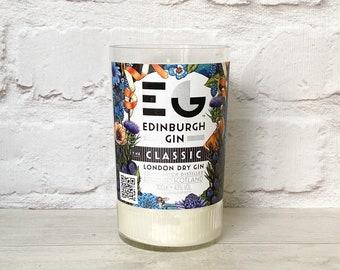 Edinburgh Gin Bottle Candle Upcycled Original Bottle