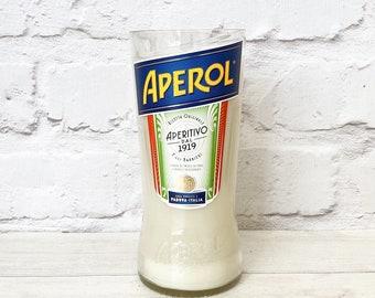 Aperol Bottle Candle Upcycled Original Bottle