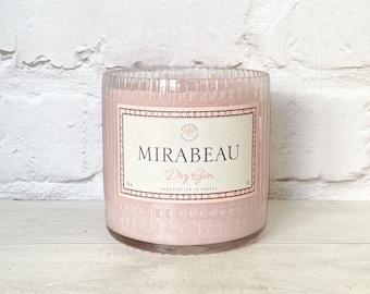 Mirabeau Gin Bottle Candle Upcycled Original Bottle