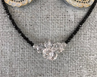 Clear Crystal Cluster Necklace