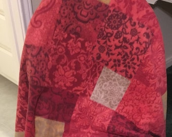 Red Paisley Throw