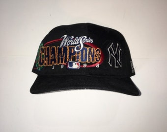 d3c7a54743036 ... promo code for vintage 90s 1998 world series champions new york yankees  new era snapback 83678