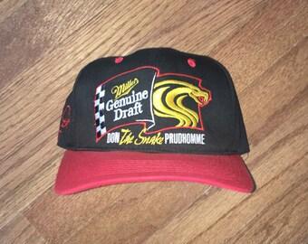 495d4693049 Vintage 90s Miller Genuine Draft Prudhomme Racing Snapback Hat