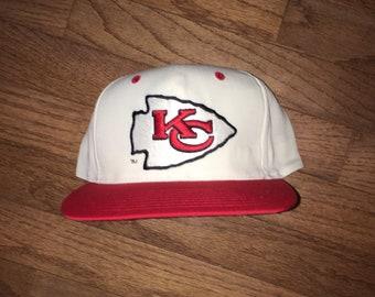 0d6c8029 discount code for vintage 90s kansas city chiefs deadstock ds nfl snapback  hat e234b da5e4