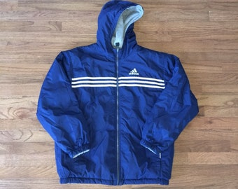 Vintage 90s Adidas Reversible Winter Jacket Size Mens Medium d0ca18306b