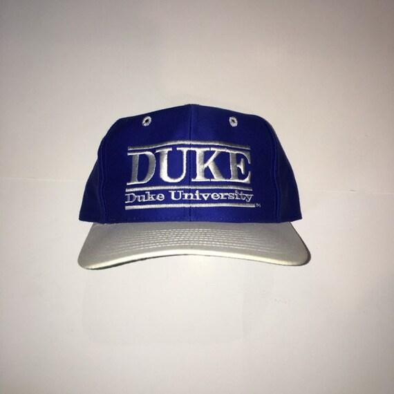best sneakers 95406 1b844 ... best price vintage 90s duke university blue devils snapback hat 5b227  907a0