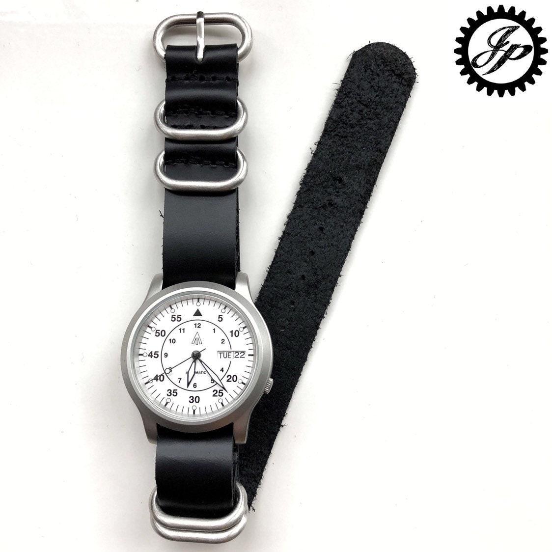4fbc2f9c1 JPC106 Custom Automatic Pilot Watch Seiko 7s26 Mod | Etsy