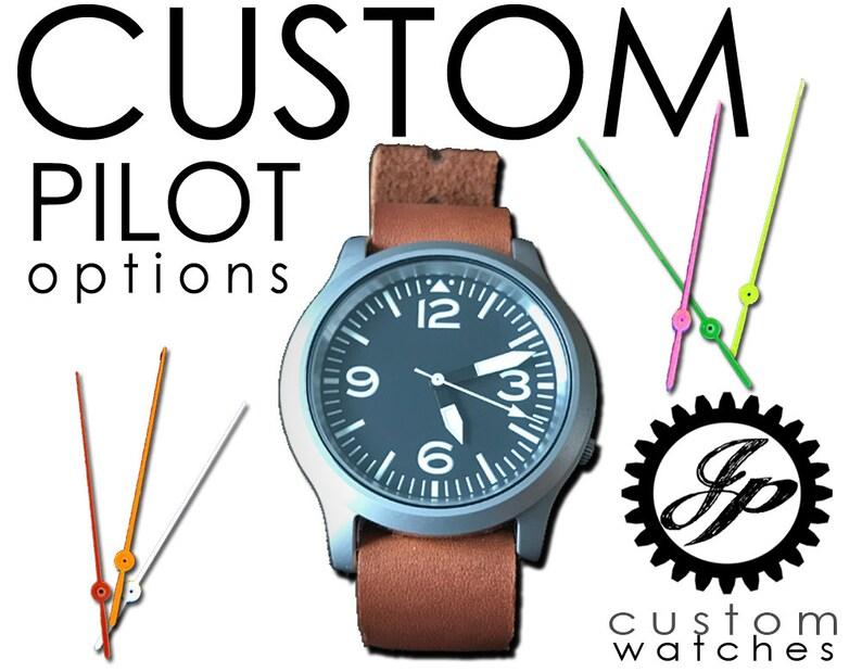 fea9560de CUSTOM JP Pilot Automatic Watch Seiko 7s26 Mod | Etsy