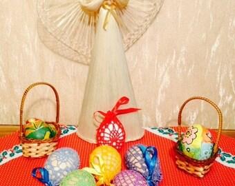 7 Crochet Bags for Easter Eggs, Crochet Reticules for Easter Eggs, Crochet Pouchs fo Easter Eggs