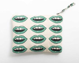 Green Lips Makeup Bag