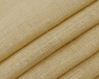 """Beige Burlap, Beige Jute Fabric, Natural Fabric, Upholstery Fabric, Sewing Crafts, 53"""" Inch Wide Jute Fabric By The Yard ZJC5A"""