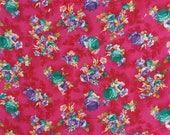 Decorative Craft Floral Print, Pink Fabric, Sewing Supplies, Quilting Fabric, 43 quot Inch Cotton Fabric By The Yard ZBC8726B