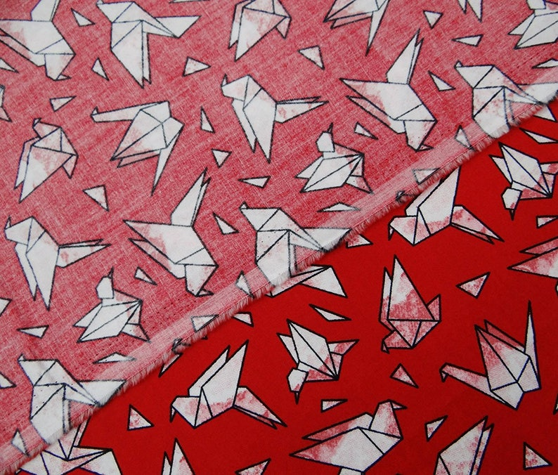 Sewing Accessories Red Fabric Bird Print 60 Inch Cotton Fabric By The Yard ZBC9004A Quilt Fabric Indian Decor Fabric