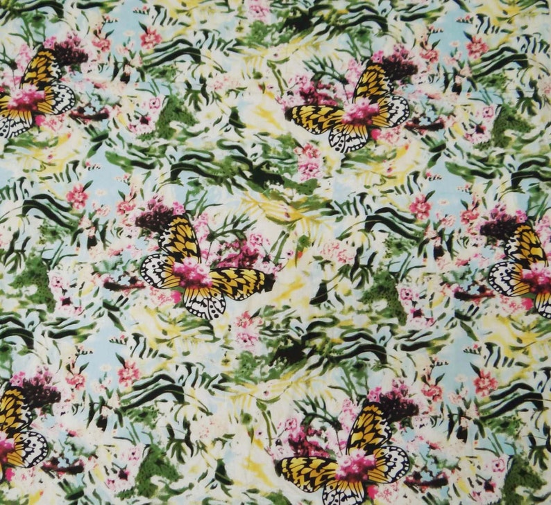 Dress Making Fabric Floral Printed Pure Cotton Fabrics Sewing Dress By The Yard