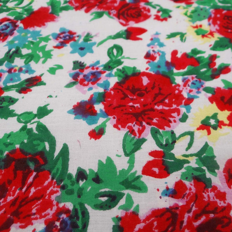 Floral Cotton Fabric 44 Inch Designer Fabric By The Yard ZBC7525A White Fabric Home Accessories Dressmaking Fabric