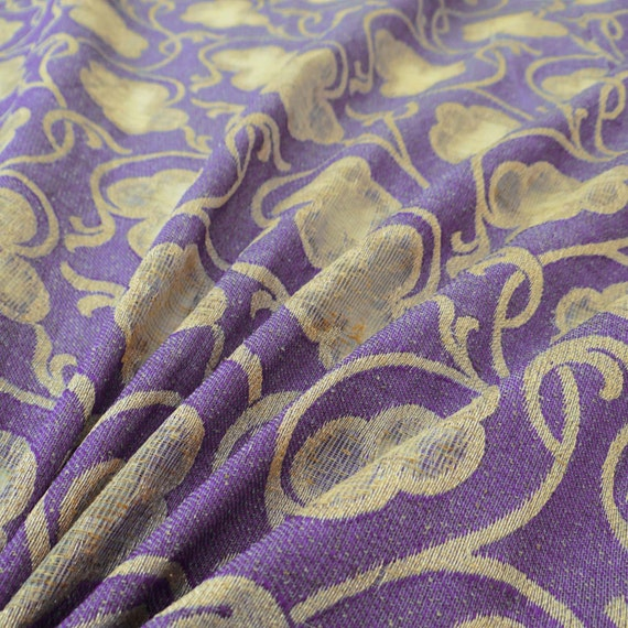 """Purple Cotton Voile 40"""" Width Solid Pattern Fabric Sewing Cushion Drape By 1 Yd"""