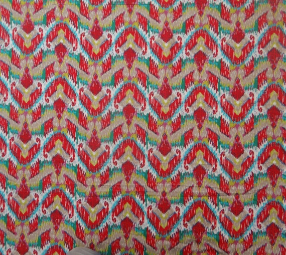 Indian Dress Fabric Abstract Print Home Decor Quilting