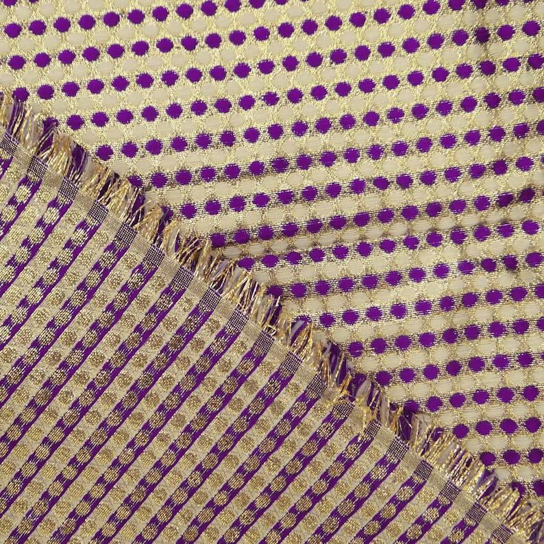 "45/"" Wide Designer Brocade Blouse Fabric Dressmaking Sherwani Fabric By 1 Yd"