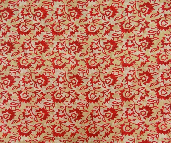 """White Printed Cotton Indian Designer 42"""" Wide Light Weight Sew Fabric By Metre"""